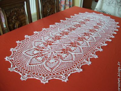 Crochet le blog multim dia 100 facile et gratuit for Chemin de table crochet